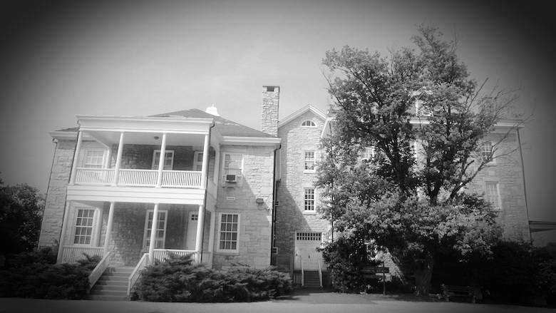 An image of the Baltimore County Almshouse. It was built in 1872 and now serves as the headquarters of the Baltimore County Historical Society.