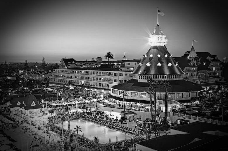 The Hotel Del Coronado in Coronado, California
