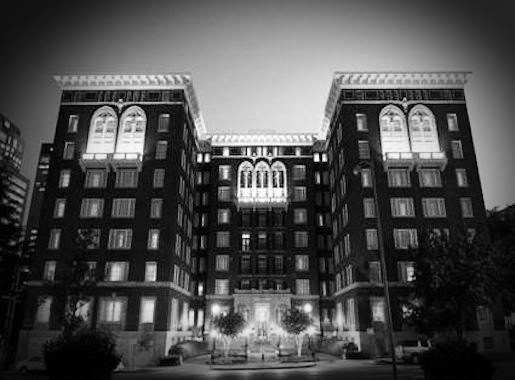 Tutwiler Hotel Night Exterior