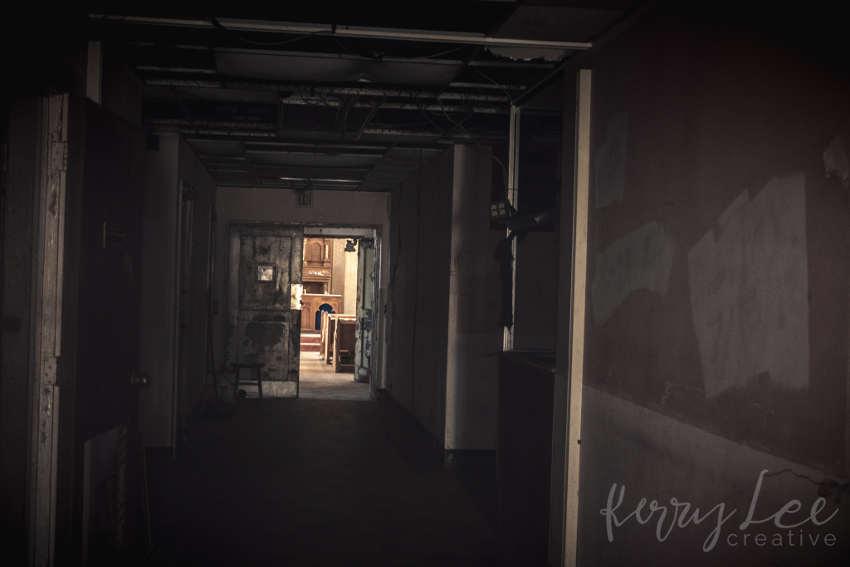 Yorktown Hospital corridor