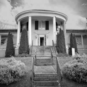 an exterior image of reportedly haunted Octagon Mansion in Wytheville Virginia